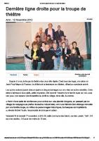 20121112 – Dernière ligne droite pour la troupe de théâtre