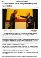 20140324 – La troupe des Jeux dits présente quatre spectacles